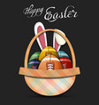 happy easter football balls in form eggs vector image vector image