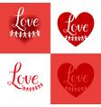 holiday love card vector image
