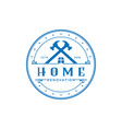 home repair construction logo icon home service d vector image