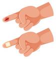 human hand finger cut vector image
