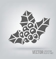 Icon Christmas berries isolated black on white vector image