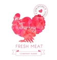 image meat symbol turkey silhouettes animal vector image