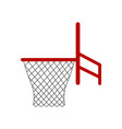 isolated basketball net icon vector image vector image