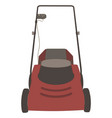 lawn mower icon grass gardening mowing garden vector image vector image