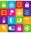 Lock safe icons vector image vector image