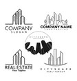 logo real estate buildings set vector image vector image