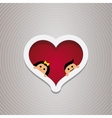 loving couple in the hear frame for wedding vector image vector image