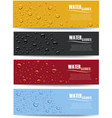 many water drops on different color background vector image