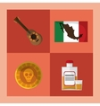 mexican culture related icons image vector image vector image