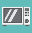 microwave oven flat icon household and appliance vector image vector image