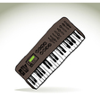 Music keyboard vector image