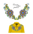 oriental ornament with paisley and fantasy flowers vector image vector image