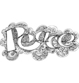 PEACE sketched doodles vector image vector image