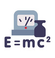 physics lesson symbols equivalence mass and vector image