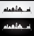 pisa skyline and landmarks silhouette vector image