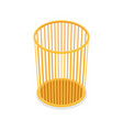 plastic trash basket isometric 3d icon vector image