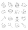 Police set icons in line style big collection of vector image