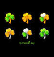 precious clover for st patricks day vector image vector image