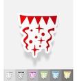 realistic design element festive confetti vector image vector image