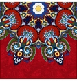 red round pattern in ukrainian oriental ethnic vector image