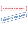 rhode island textile stamps vector image vector image