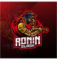 ronin sport mascot logo design vector image vector image
