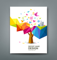 Rreport colorful tree business icons vector image vector image