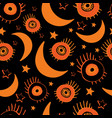 seamless background for happy halloween vector image vector image