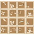 Seamless background with scales weight icons vector image