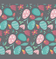 seamless pattern with easter eggs and vector image vector image