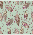 seamless tribal pattern with feathers and beads vector image vector image
