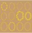 set with oval frames on the beige background vector image