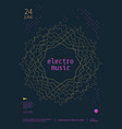 sound flyer with abstract geometric line shapes vector image vector image