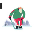 sporting santa - ice hockey vector image