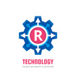 technology letter r - logo template concept vector image vector image