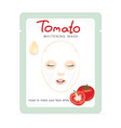 tomato whitening mask vector image vector image