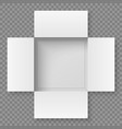 top view open box vector image vector image