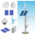 transmission tower with equipment vector image