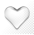 transparent heart vector image