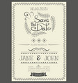 vintage wedding invitation vector image vector image