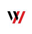 w letter logo w letter emblem vector image vector image