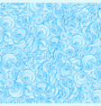 waves hand drawn pattern vector image