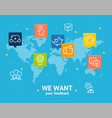 we want feedback concept vector image
