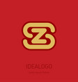 z and s initial logo zs - design element or icon vector image vector image