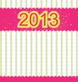 2013 new year banner retro design vector image
