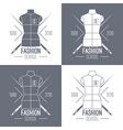Fashion school emblem vector image