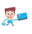 Shopping with plastic card vector image