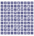 100 energy icons set grunge sapphire vector image vector image