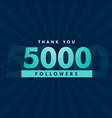 5000 social media followers template design vector image vector image