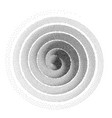 abstract spiral background black and white vector image vector image